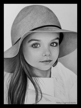 Anastasia - dessin en noir et blanc