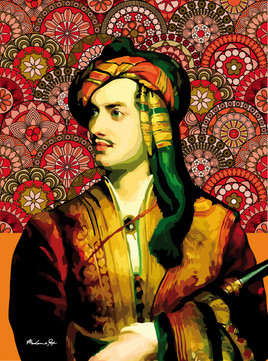 Portrait de Lord Byron, pop art