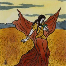 Illustration originale du signe du Zodiaque VIERGE