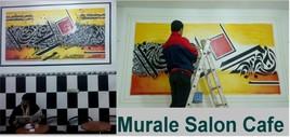 Murale salon-café