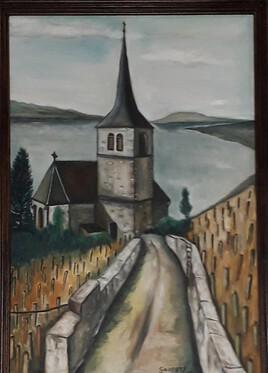 Église de Ligerz (Suisse) Canton de Berne