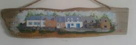 Village breton sur bois flotté
