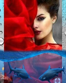 Femme aquarium