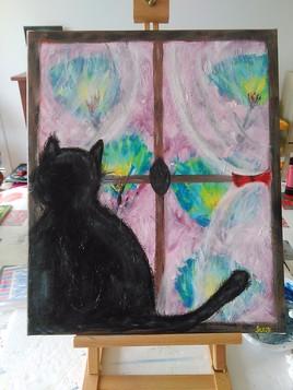 Chat fenêtre