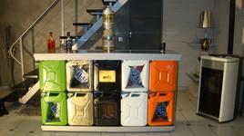 """Le Bar entierement crée et fabriquée a base de récupération """"le Recycle Bar"""""""