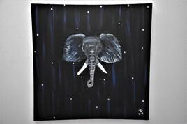 Portrait d'éléphant et strass
