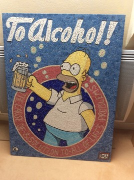 homer simpson. TO ALCOHOL !!! (mosaique)