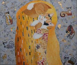 """mon """"Klimt cats"""""""