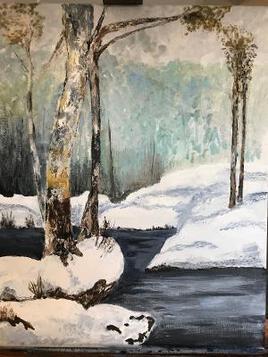 La neige et la riviere