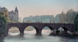 Aquarelle Le pont Neuf au petit matin