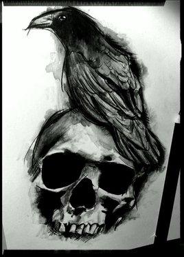 Skull and Raven