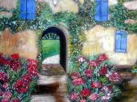 la façade fleurie