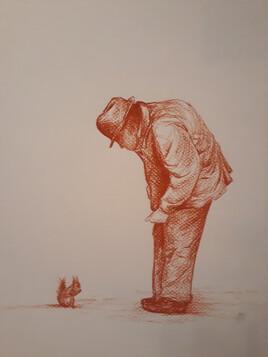 Le vieil homme et l'écureuil
