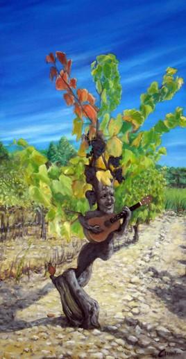 Pied de vigne musicien
