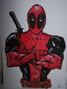 Deadpool gouache