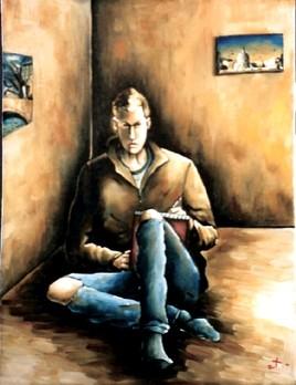 Autoportrait au carnet