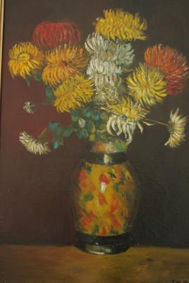 Dahlias dans un vase