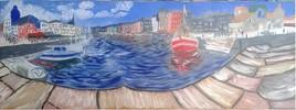 Vue panoramique sur le port d'Honfleur