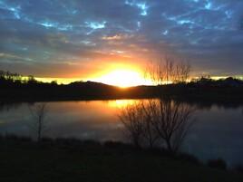 Couché de soleil - Lac du Grècq - Orthez
