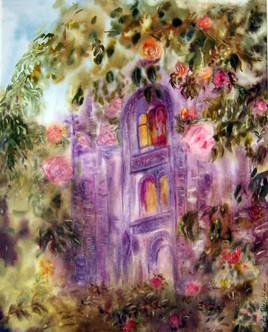 Abbaye et les roses