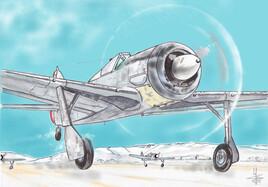 NC900 au décollage plaine de Cravant