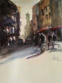 Peinture Rue de Zgag ben ramdan
