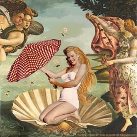 les gestes barrières façon Marilyn dans la Vénus de Botticelli..!  :)
