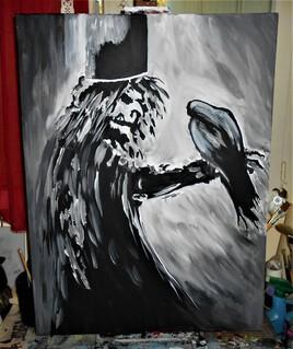 """l""""épouvantail et le corbeau"""