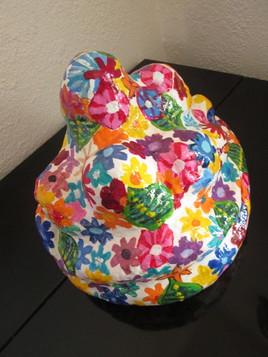 scuplture bouquet de fleurs