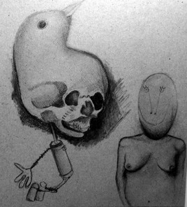 L'oiseau et le caillou