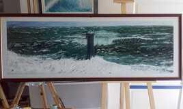 Phare de Nividic en mer d'Iroise..