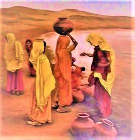 indiennes et la corvée d'eau
