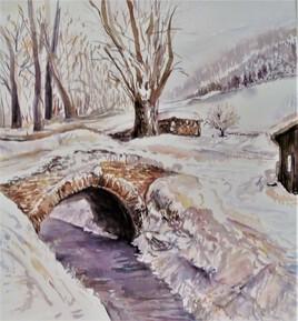 Le pont enneigé
