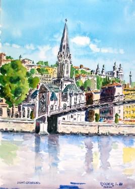 La passerelle St Georges à Lyon