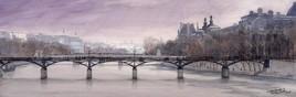 Panoramique du pont des arts