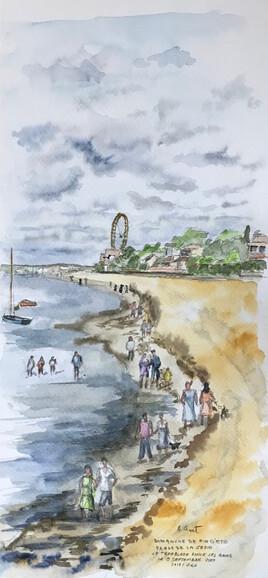 la plage un dimanche de fin d'été