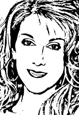 Portrait de Céline Dion
