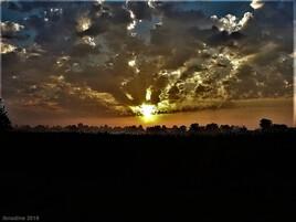 coucher de soleil..