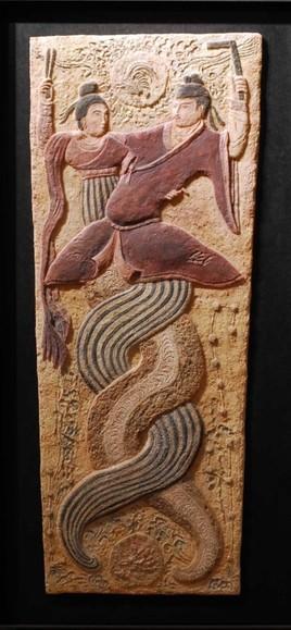 Emperadores míticos chinos. med: 48x101x3 cm.