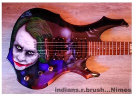 guitar custom airbrush ... indians.r.brush ... Nimes