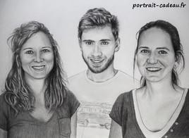 Portraits dessin - 3 visages