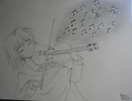 Une larme en musique