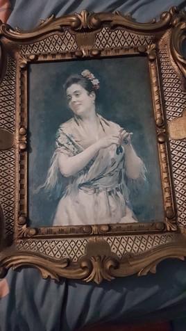 Femme à écharpe