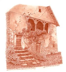 La maison aux arcades Badecon  le pin INDRE France
