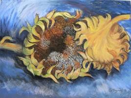 Mes tournesols à la Van Gogh