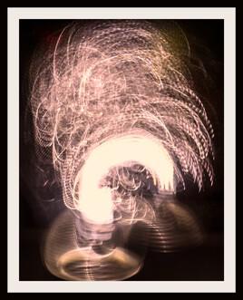 explosion lighting night