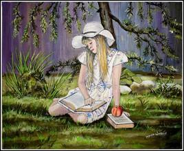 Un moment de lecture dans le jardin
