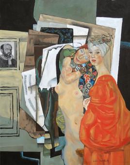 Les deux amies - hommage à Klimt