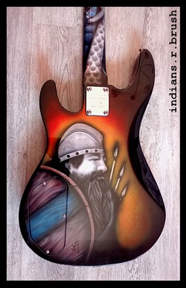 guitare basse airbrush ... indians.r.brush