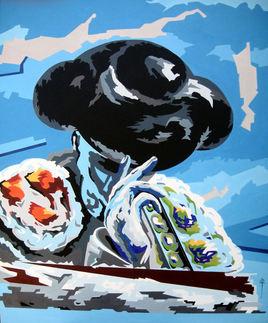 peinture-corrida-bleu